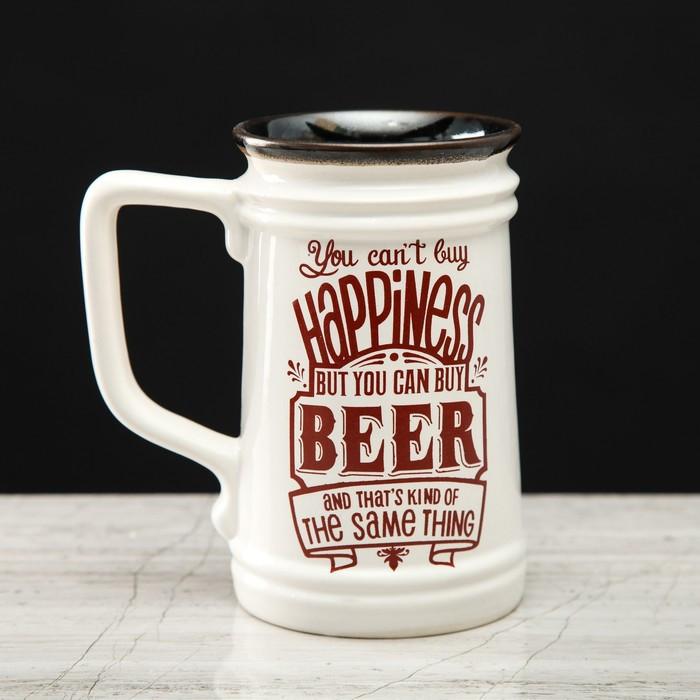 """Кружка пивная Прованс """"Beer"""" прямая, 0.6 л, микс"""