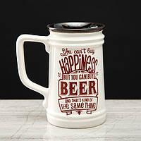 """Кружка пивная Прованс """"Beer"""" прямая, 0.6 л, микс, фото 1"""