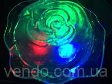 Светильник - ночник светодиодный Роза цветные диоды 220V.