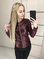 """женская куртка-пиджак из экокожи """"Квин"""" до 52 размер"""