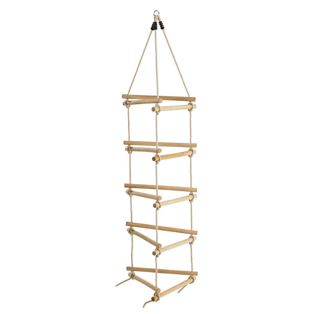 Трехсторонняя веревочная лестница для детской площадки