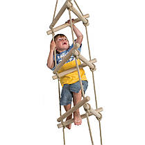 Трехсторонняя веревочная лестница для детской площадки, фото 3