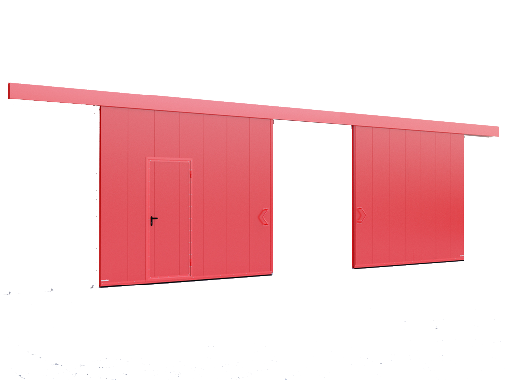Противопожарные двустворчатые откатыне ворота DoorHan с классом огнестойкости EI60, EI90
