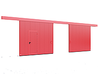 Противопожарные двустворчатые откатыне ворота DoorHan с классом огнестойкости EI60, EI90, фото 1