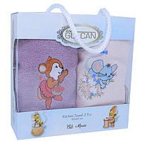 Подарочный новогодний набор полотенец 2шт  с мышками  40*60 Турция