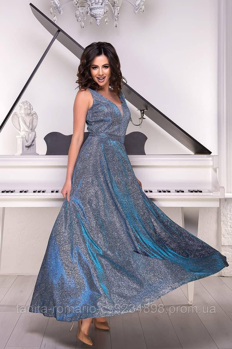 Вечернее платье 8135e Голубой