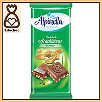 Шоколад Alpinella Молочный с орехом 90г