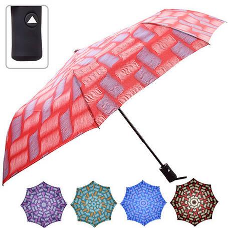 Зонт складной полуавтомат r55см 8сп в чехле, фото 2
