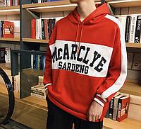 Мужская спортивная кофта (Толстовка) с капюшоном Красная