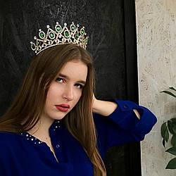 """Шикарна і велика діадема - корона """"Ізабель"""" для нареченої."""