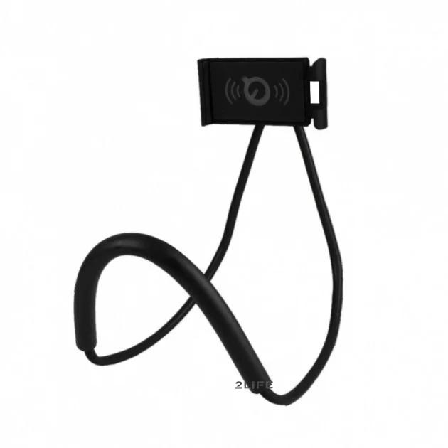 Универсальный держатель для мобильного 2Life lazy bracket Black (n-192)