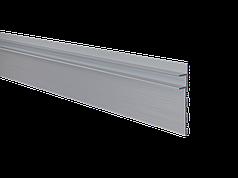 Алюминиевый плинтус скрытого монтажа с LED подсветкой без покрытия