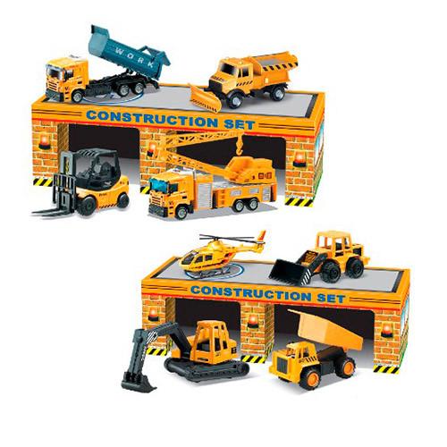 Набор машинок строительной техники в гараже (2 вида)