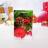 Новогодний подарочный пакет Малый 11х18х5