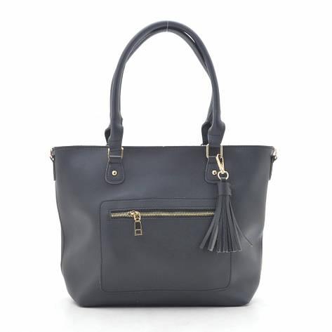 Женская сумка 9452 черная, фото 2