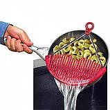 Дуршлаг-накладка для слива воды 2Life Red (n-195), фото 2