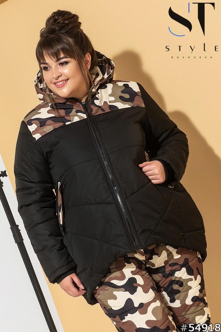 Очень теплый женский лыжный костюм под комуляжот 48 до 58р.