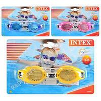 Очки для плавания Intex, на листе, с 3-8 лет  (ОПТОМ) 55601