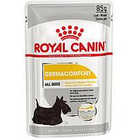 Royal Canin Dermacomfort Loaf Влажный корм для собак с чувствительной кожей, склонной к раздражениям  85ГР