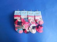 """Шкарпетки (SSS 14-16 см) махрові для дівчаток """"YO SCORPIO"""" ПОЛЬЩА"""
