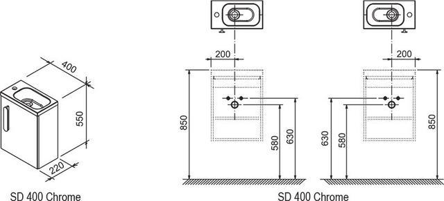 Шафка під мініумивальник SD 400