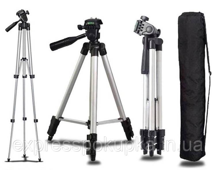 Компактный штатив для телефона камеры фотоаппарата UC-3110 cерый (35-102 см)