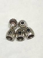 Наконечник для шнура Колокольчик #12 (пластмасса) цвет никель
