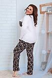 Женская трикотажная пижама больших размеров Размер 48 50 52 54 56 58 60 62 В наличии 2 цвета, фото 3