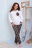 Женская трикотажная пижама больших размеров Размер 48 50 52 54 56 58 60 62 В наличии 2 цвета, фото 2