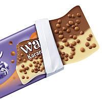 Milka Waves Karamellperlen Молочный и белый шоколад с рисовыми кружочками в шоколаде и карамели, фото 2