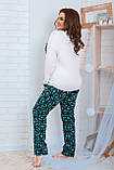 Женская трикотажная пижама больших размеров Размер 48 50 52 54 56 58 60 62 В наличии 2 цвета, фото 5