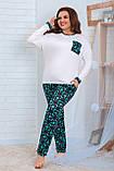 Женская трикотажная пижама больших размеров Размер 48 50 52 54 56 58 60 62 В наличии 2 цвета, фото 6