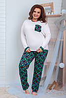Женская трикотажная пижама больших размеров Размер 48 50 52 54 56 58 60 62 В наличии 2 цвета, фото 1