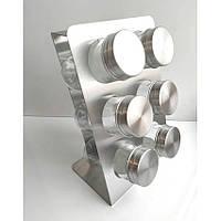 Набор для соли и специй Kamille 7036 на прямоугольной подставке 6 предметов