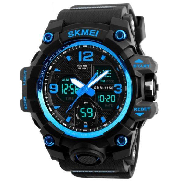 Skmei Мужские спортивные кварцевые часы Skmei Hamlet Blue 1155B, фото 1