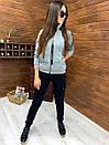 Женский спортивный костюм из трехнитки на флисе с мастеркой на молнии 52rt817, фото 2