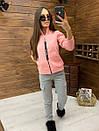 Женский спортивный костюм из трехнитки на флисе с мастеркой на молнии 52rt817, фото 3