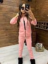 Женский спортивный костюм из трехнитки на флисе с мастеркой на молнии 52rt817, фото 5