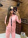 Женский спортивный костюм из трехнитки на флисе с мастеркой на молнии 52rt817, фото 6