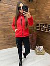 Женский спортивный костюм из трехнитки на флисе с мастеркой на молнии 52rt817, фото 8