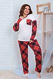 Пижама для полной женщины Трикотаж Размер 48 50 52 54 56 58 60 62 В наличии 2 цвета, фото 2