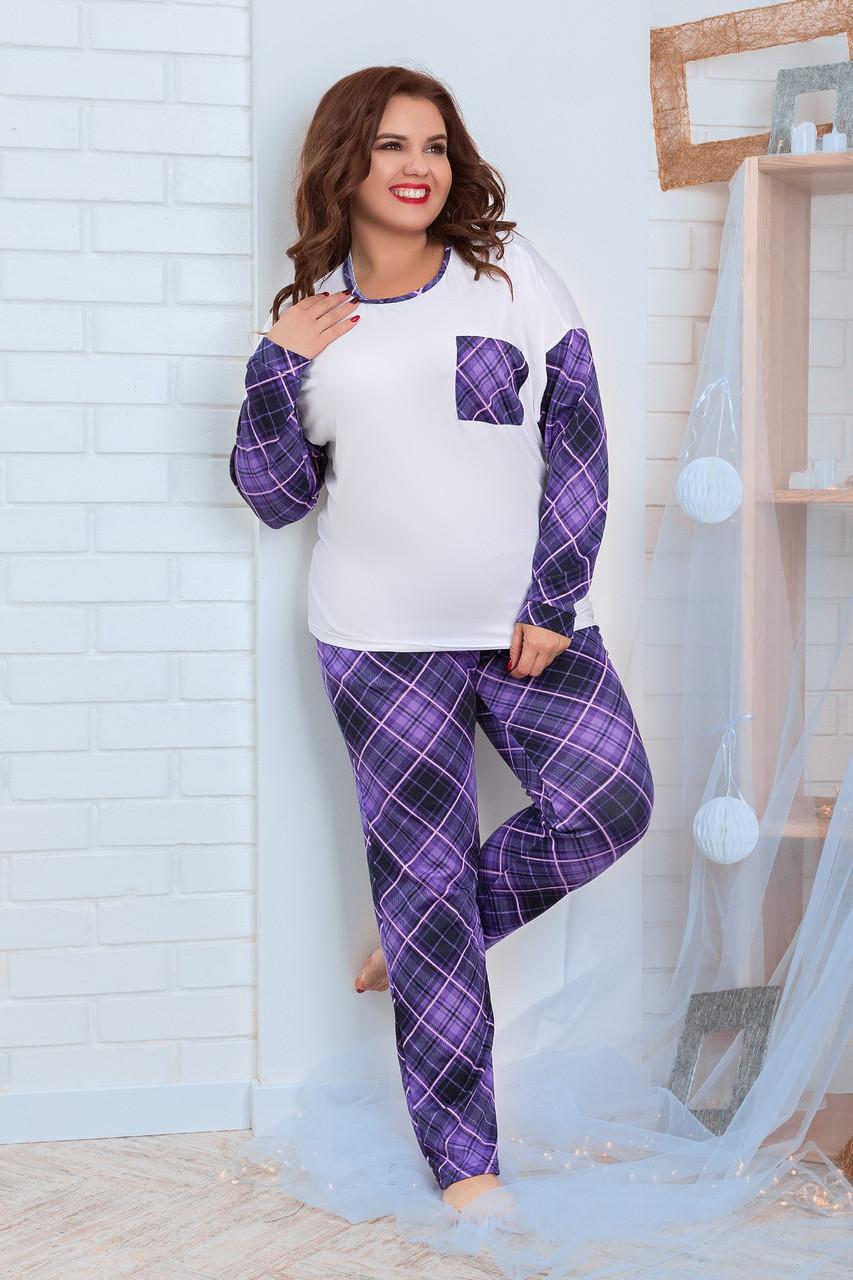 Пижама для полной женщины Трикотаж Размер 48 50 52 54 56 58 60 62 В наличии 2 цвета