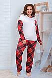 Пижама для полной женщины Трикотаж Размер 48 50 52 54 56 58 60 62 В наличии 2 цвета, фото 3
