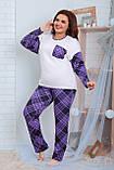Пижама для полной женщины Трикотаж Размер 48 50 52 54 56 58 60 62 В наличии 2 цвета, фото 4