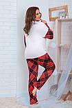 Пижама для полной женщины Трикотаж Размер 48 50 52 54 56 58 60 62 В наличии 2 цвета, фото 6