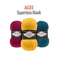 Зимняя пряжа для вязания Alize Superlana Klasik
