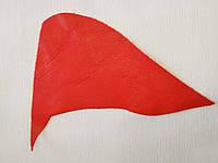 Кожа натуральная для рукоделия Красная 24*13см, №134, фото 1