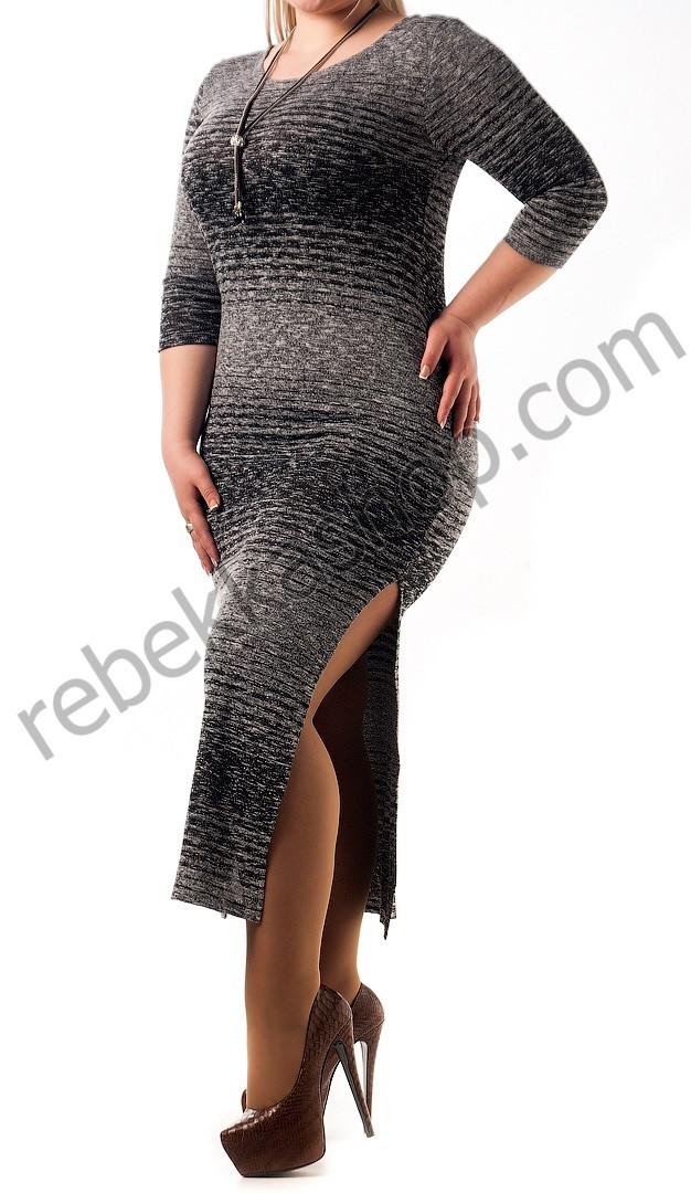 Платье из ангоры длинное