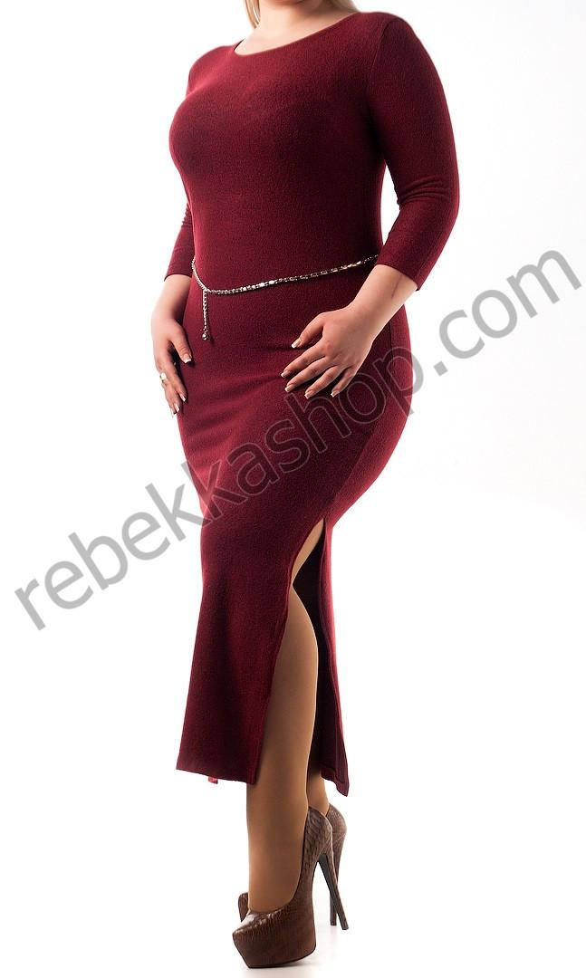 Платье из ангоры с разрезами