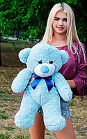Плюшевый Мишка 80см. Все Цвета Плюшевый медведь Мишка игрушка (Голубой)
